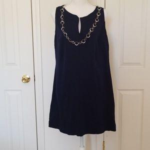 New York & Company Navy Blue Sleeveless Dress